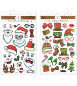 Stickers - Christmas, Embossed Novelty Assorted