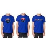 T-Shirt - Children's, Blue Aussie Emoticon