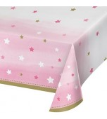 Tablecloth - Baby Shower Twinkle, Pink