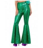 Trousers - Flared, Mermaid Green