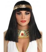 Wig - Cleopatra, Gold Headband