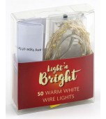 Wire Lights - 50 LED Battery Warm White