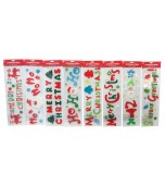 Gel Window Stickers - Christmas, Assorted