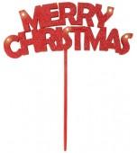 Decorative Pick - Light Up, Merry Christmas