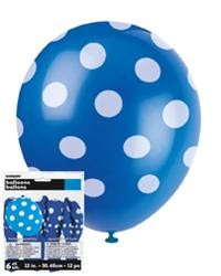 Balloons - Polka Dots Royal Blue 6 pk