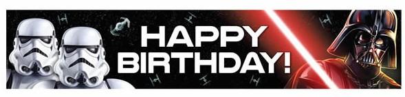 Banner - Star Wars Classic, Happy Birthday