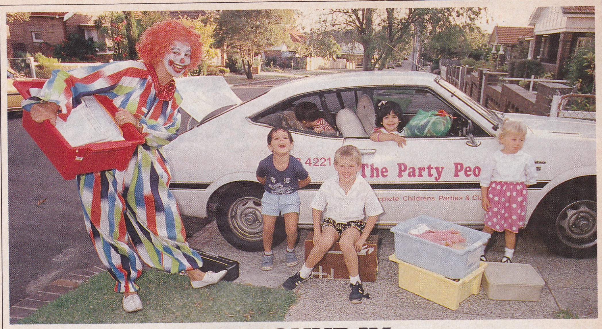 Patches The Clown in Sydney Weekender Magazine